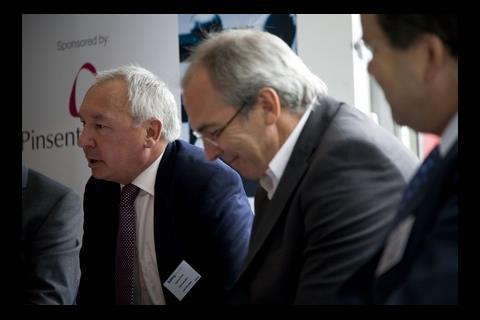 Stephen Stone, chief executive of Crest Nicholson, Peter Drummond, BDP chief executive,